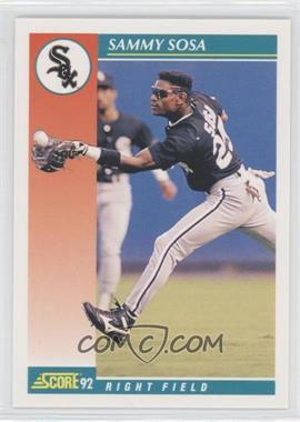 1992 Score #258 - Sammy Sosa