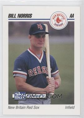 1992 SkyBox Pre-Rookie - New Britain Red Sox #491 - Bill Norris