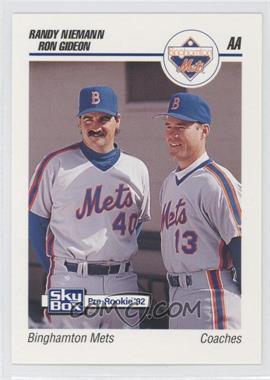 1992 SkyBox Pre-Rookie Binghamton Mets #75 - Randy Niemann, Roy Gilbert