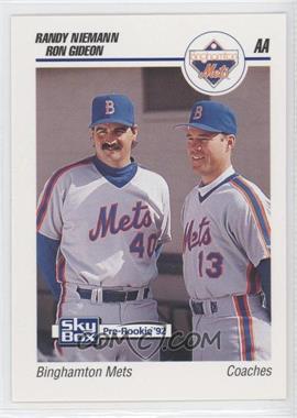 1992 SkyBox Pre-Rookie Binghamton Mets #75 - Randy Niemann