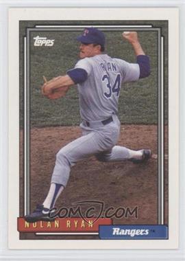 1992 Topps - [Base] #1 - Nolan Ryan