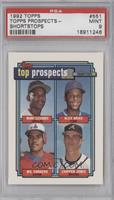 Manny Alexander, Alex Arias, Wil Cordero, Chipper Jones [PSA 9]