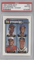 Manny Alexander, Alex Arias, Wil Cordero, Chipper Jones [PSA 10]