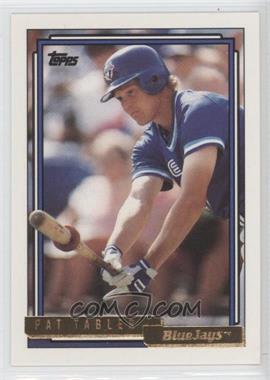 1992 Topps Gold #333 - Pat Tabler