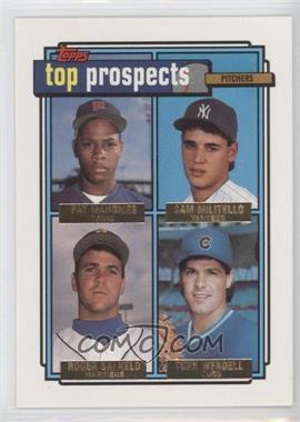 1992 Topps Gold #676 - Pat Mahomes, Sam Militello, Roger Salkeld, Turk Wendell