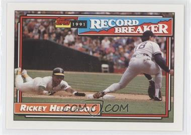 1992 Topps #2 - Rickey Henderson