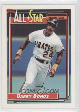 1992 Topps #390 - Barry Bonds