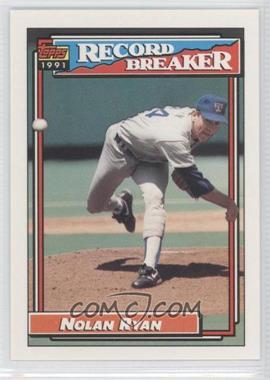 1992 Topps #4 - Nolan Ryan
