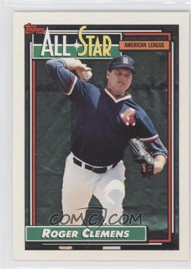 1992 Topps #405 - Roger Clemens