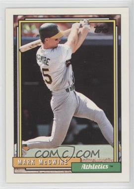 1992 Topps #450 - Mark McGwire