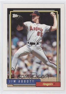 1992 Topps #530 - Jim Abbott
