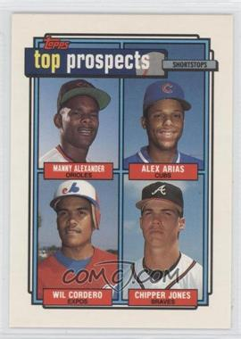 1992 Topps #551 - Manny Alexander, Alex Arias, Wil Cordero, Chipper Jones