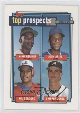 1992 Topps #551 - Manny Alexander, Alex Arias, Wil Cordero, Chipper Jones