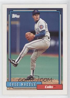 1992 Topps #580 - Greg Maddux