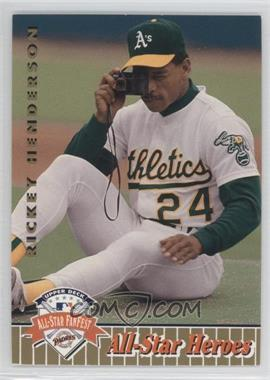 1992 Upper Deck All-Star FanFest Box Set [Base] Gold #27 - Rickey Henderson