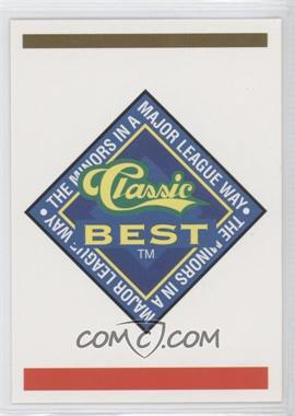 1993 Classic Best Capital City Bombers #N/A - Logo Card