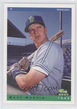 1993 Classic Best Charleston Wheelers #18 - Matt Martin