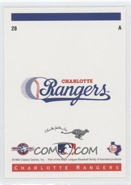 1993 Classic Best Charlotte Rangers - [Base] #28 - Logo Card