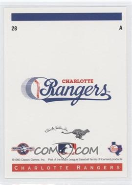 1993 Classic Best Charlotte Rangers #28 - Logo Card