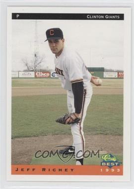 1993 Classic Best Clinton Giants - [Base] #19 - Jeffrey Richey