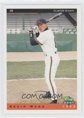 1993 Classic Best Clinton Giants #24 - Kevin Wong