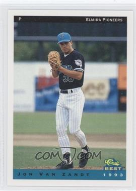 1993 Classic Best Elmira Pioneers - [Base] #24 - Jon Van Zandt