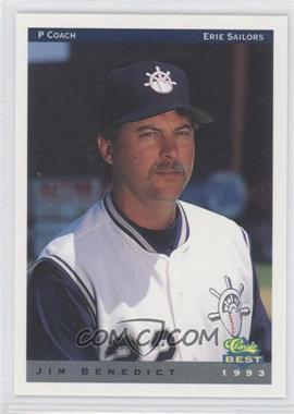 1993 Classic Best Erie Sailors - [Base] #29 - Jim Benedict