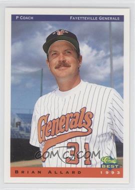 1993 Classic Best Fayetteville Generals - [Base] #27 - Brian Allard