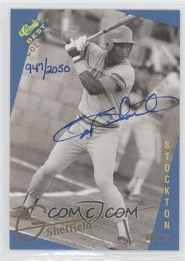 1993 Classic Best Gold Minor League Autographs #N/A - Gary Sheffield /2050
