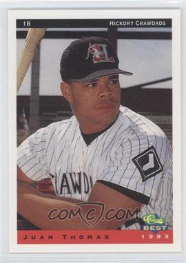 1993 Classic Best Hickory Crawdads - [Base] #24 - Juan Thomas