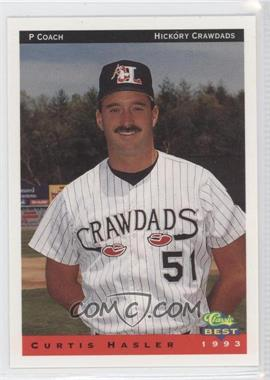 1993 Classic Best Hickory Crawdads - [Base] #28 - Curt Hasler