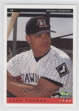 1993 Classic Best Hickory Crawdads #24 - Justin Thompson