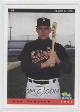 1993 Classic Best Peoria Chiefs #5 - John Deutsch