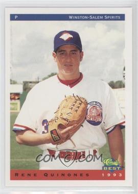 1993 Classic Best Winston-Salem Spirits - [Base] #20 - Rene Quinones