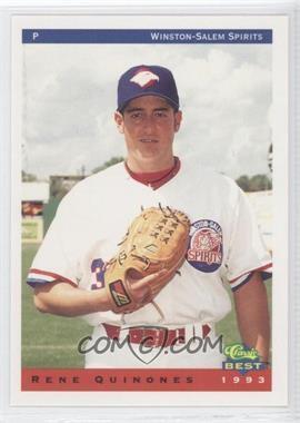 1993 Classic Best Winston-Salem Spirits #20 - Rene Quinones