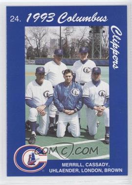 1993 Cracker Jack Columbus Clippers Columbus Police #24 - Stump Merrill, Mike Brumley, Ted Uhlaender, David Lowery, Dave Lowery