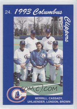 1993 Cracker Jack Columbus Clippers Columbus Police #24 - Stump Merrill, Mike Brumley, Ted Uhlaender, David Lowery