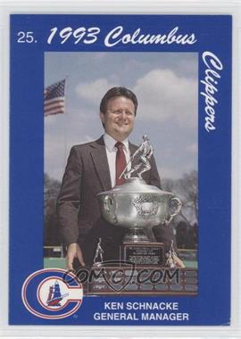 1993 Cracker Jack Columbus Clippers Columbus Police #25 - Ken Schrom