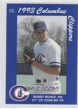1993 Cracker Jack Columbus Clippers Police - [Base] #10 - Bobby Munoz