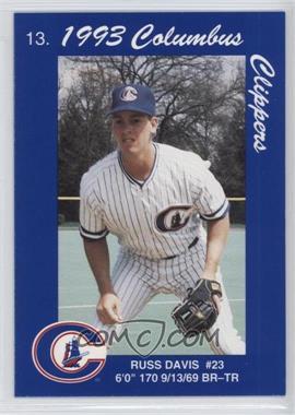 1993 Cracker Jack Columbus Clippers Police - [Base] #13 - Russ Davis