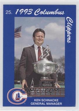 1993 Cracker Jack Columbus Clippers Police - [Base] #25 - Ken Schnacke