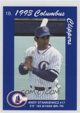 1993 Cracker Jack Columbus Clippers Police #18 - Andy Stankiewicz