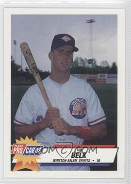 1993 Fleer ProCards Carolina League All-Star Game - [Base] #CAR-40 - Tim Belk