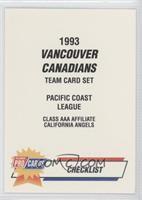 Vancouver Canadians Team Checklist