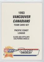 Vancouver Canadians Team Checklist