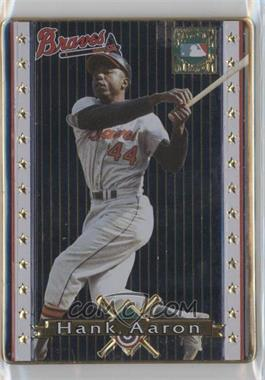 1993 Metallic Impressions Cooperstown Collection Collector's Tin [Base] #1 - Hank Aaron