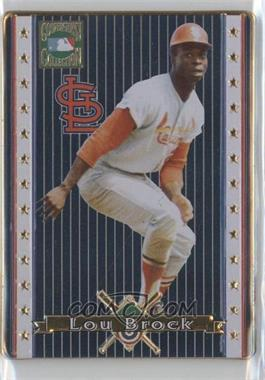 1993 Metallic Impressions Cooperstown Collection Collector's Tin [Base] #5 - Lou Brock