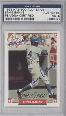 1993 Nabisco All-Star Autographs [Autographed] #ERBA - Ernie Banks [PSA/DNA Certified Auto]