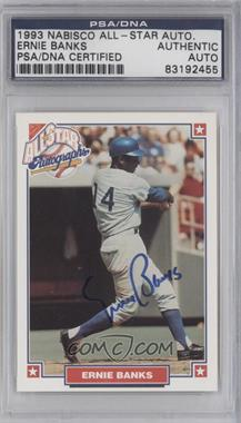 1993 Nabisco All-Star Autographs [Autographed] #N/A - Ernie Banks [PSA/DNACertifiedAuto]