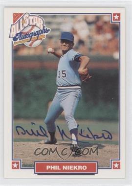 1993 Nabisco All-Star Autographs [Autographed] #N/A - Phil Niekro